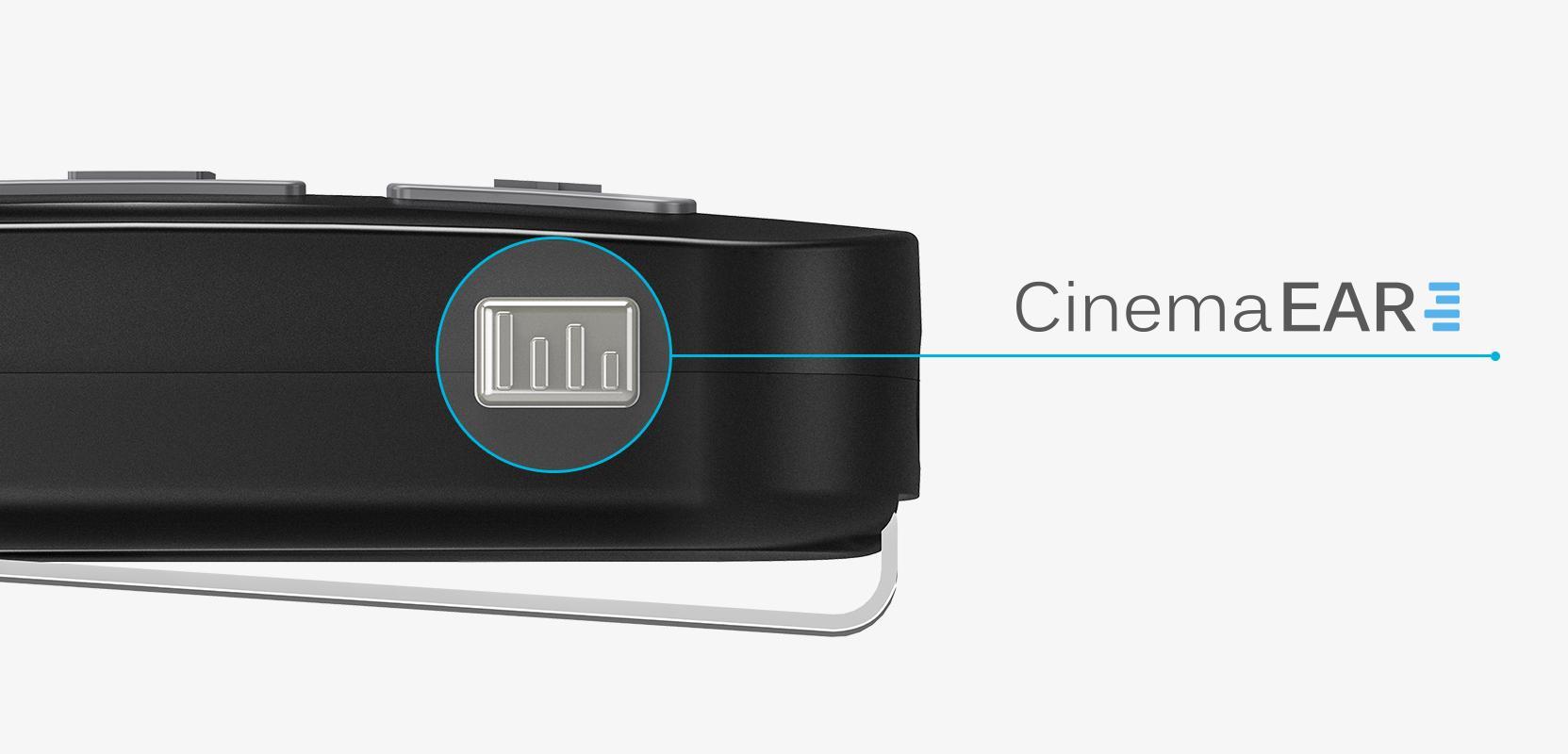 MEE Audio Connect BTR przycisk trybu CinemaEAR