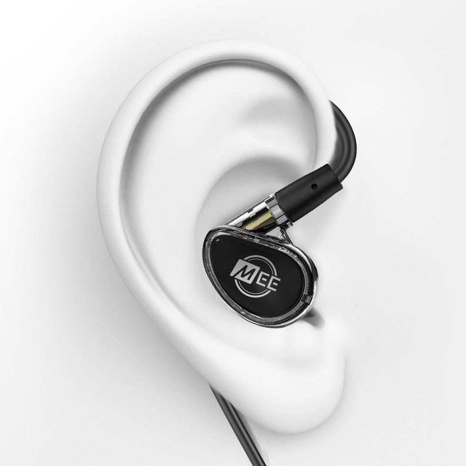 MEE Audio MX PRO konstrukcja OTE na uchu